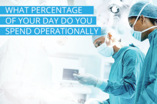What percentage of your day do you spend operationally?