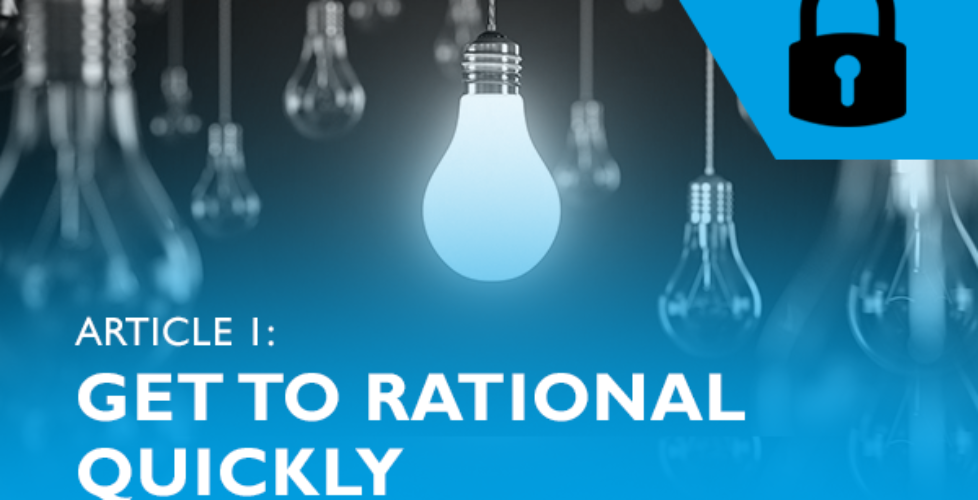 Lockdown advice for entrepreneurs #1 - Get to rational quickly