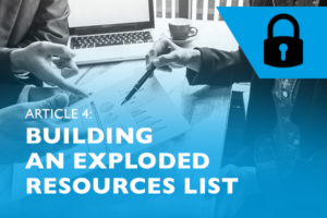 Raizcorp article: Lockdown advice #4 - Building an exploded resources list