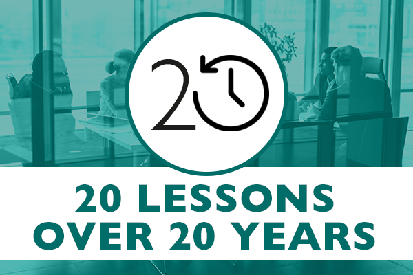 20 lessons over 20 years.