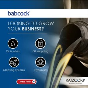 Raizcorp sponsored business programme – Oils, lubes, hydraulics & greasing systems