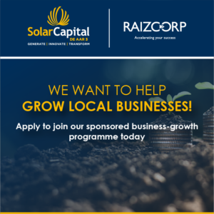 Solar Capital and Raizcopr business incubation fully sponsored programme